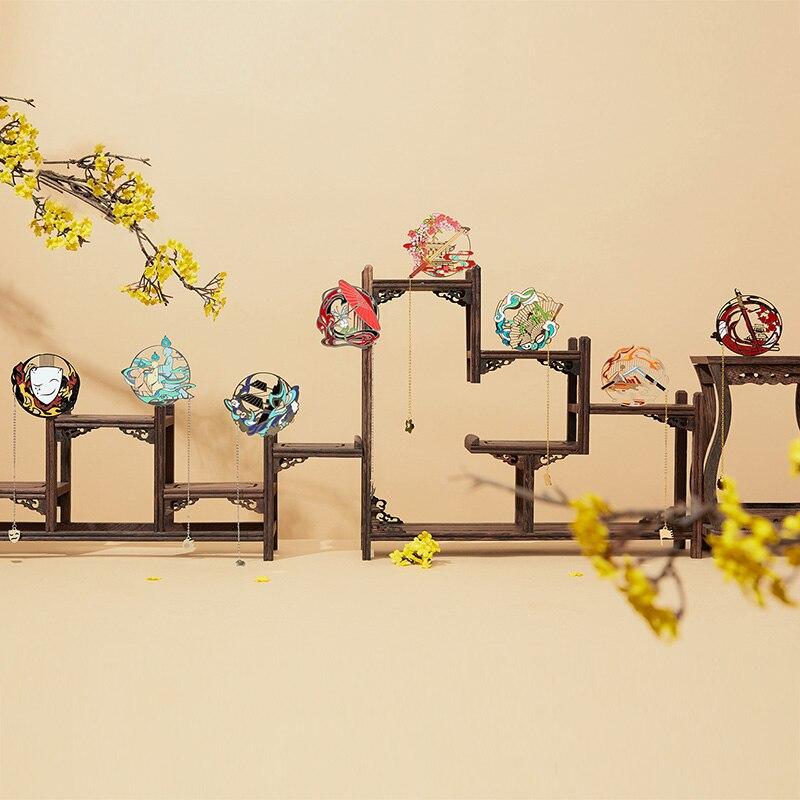 4 قطعة العتيقة النمط الصيني الكلاسيكية أنيمي تيان غوان Ci فو هوا تشنغ شيه ليان العلامات المعدنية تذكارية شرابات الإشارات المرجعية