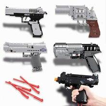 Compatibel Technic Guns Kits Revolving Pistool Set Swat Militaire Ww2 Wapens Model Bouwstenen Pubg Desert Eagle Leger