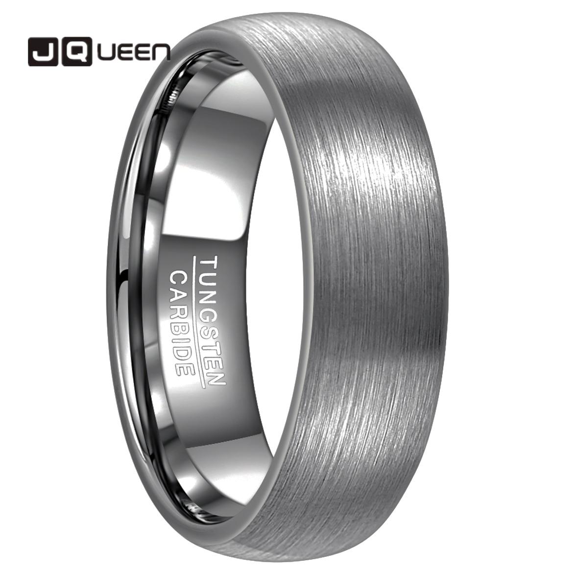 JQUEEN 7mm Men Ring 100% Tungsten Carbide Ring Men's Jewelry Wedding Bands Anillos Para Hombres Pierscienie Comfort Fit