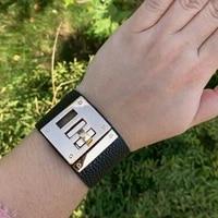 dd fashion punk wide leather bracelets bangles for women cuff bracelet statement jewelry valentines gift