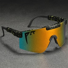 TR90 Unbreakable Frame Polarized Material Sunglasses  Fashion Shades Pit Viper Men Cool Big Goggle D