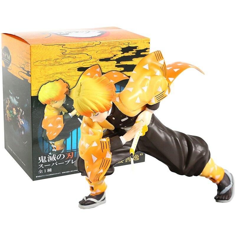 Cazadora de Kimetsu No Yaiba Agatsuma Zenitsu Super Premium figura juguete de modelos coleccionables
