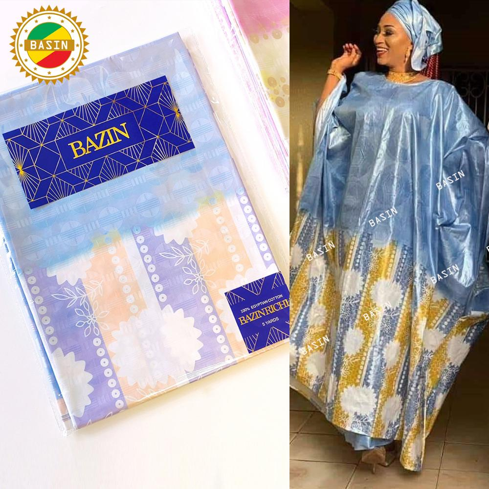 2021 High Quality Mali Bazin Riche Fabric For Bride Or Bridesmaids Dress Team Bazin Riche Jacquard S