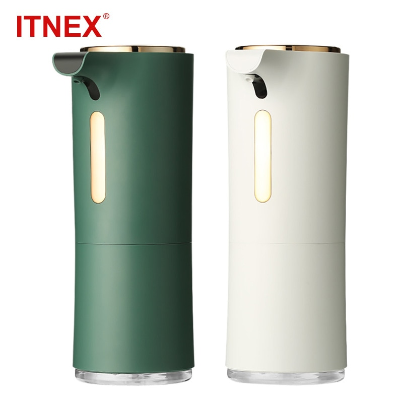 ITNEX-موزع الصابون السائل الرغوي الأوتوماتيكي مع مستشعر ، وموزع الرغوة التعريفي الذكي ، ومطهر اليدين الذي لا تلامس