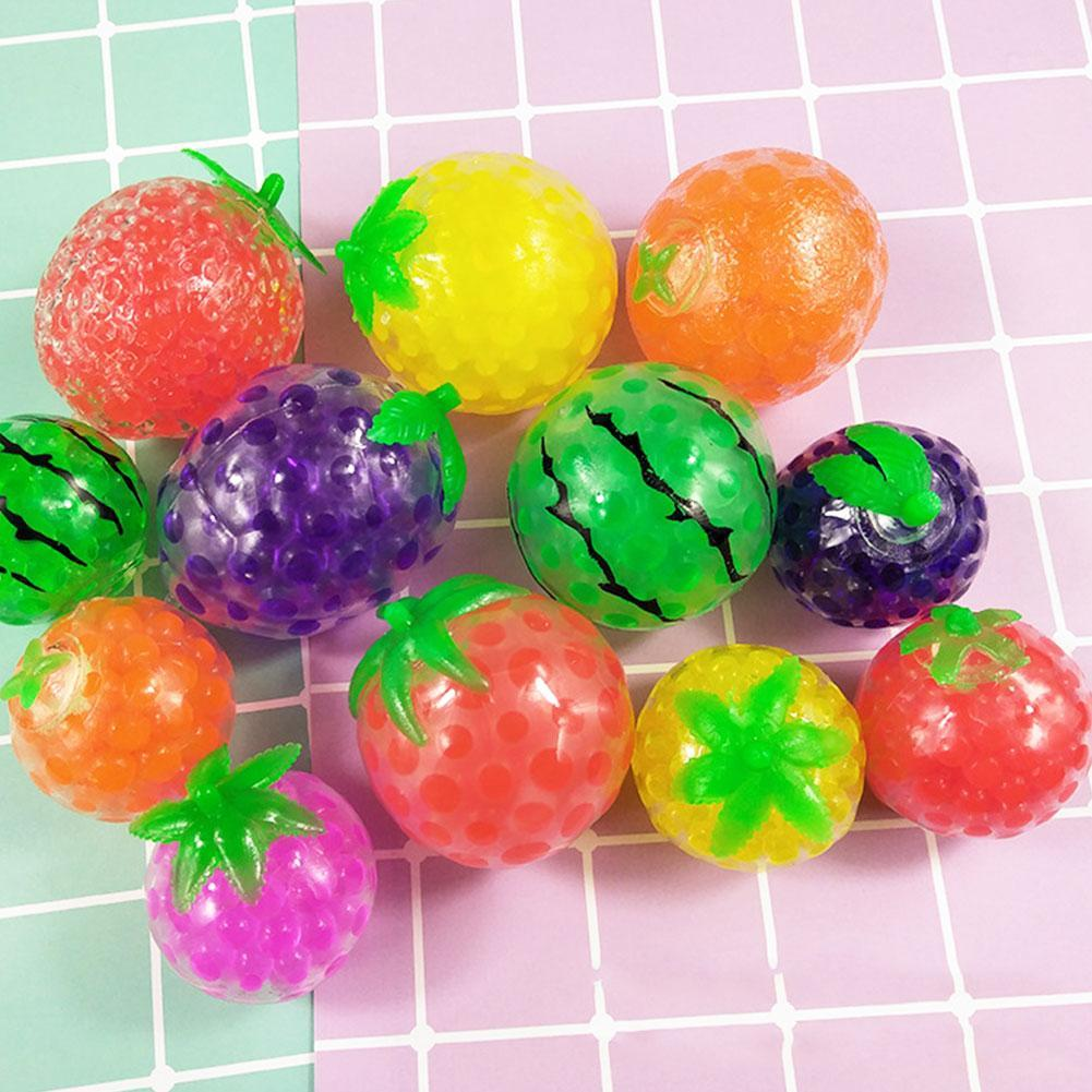 Squeeze Fidget Toys Antistress Creative Spoof Vent Banana Squeeze Toy Spongy Watermelon Banana Fruit   Bead Stress Ball Toys Adu enlarge