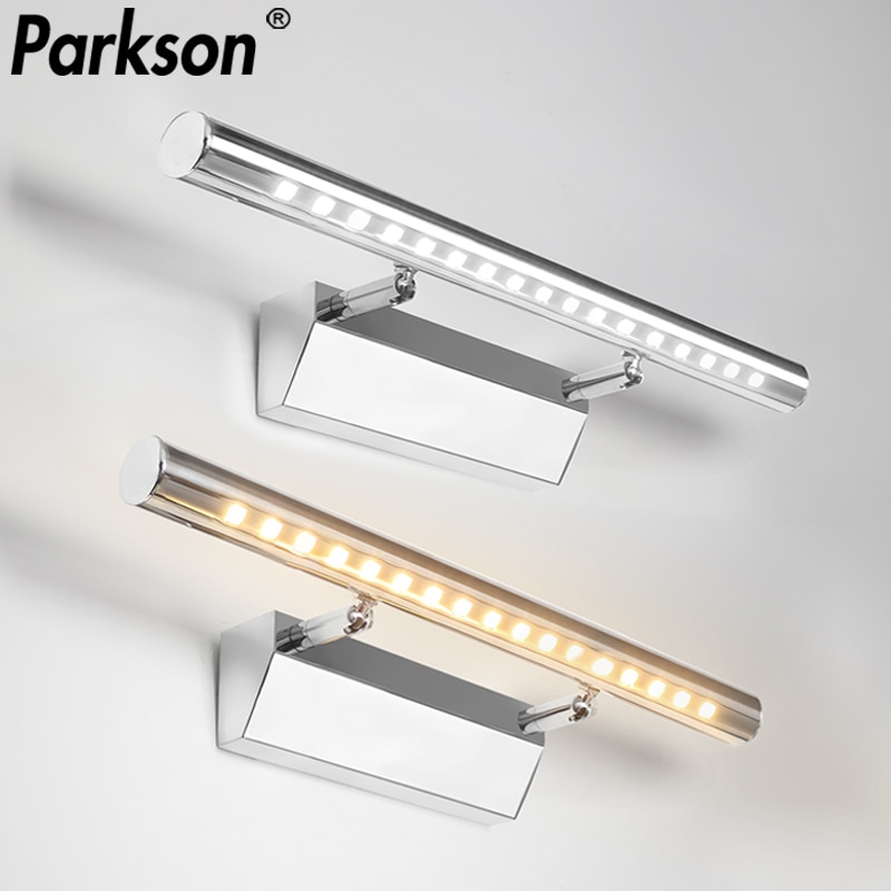 LED Wall light 3W/5W/7W Bathroom Mirror Light Washroon Wall Lamp fixtures Stainless Steel with switch Makeup Mirror Light