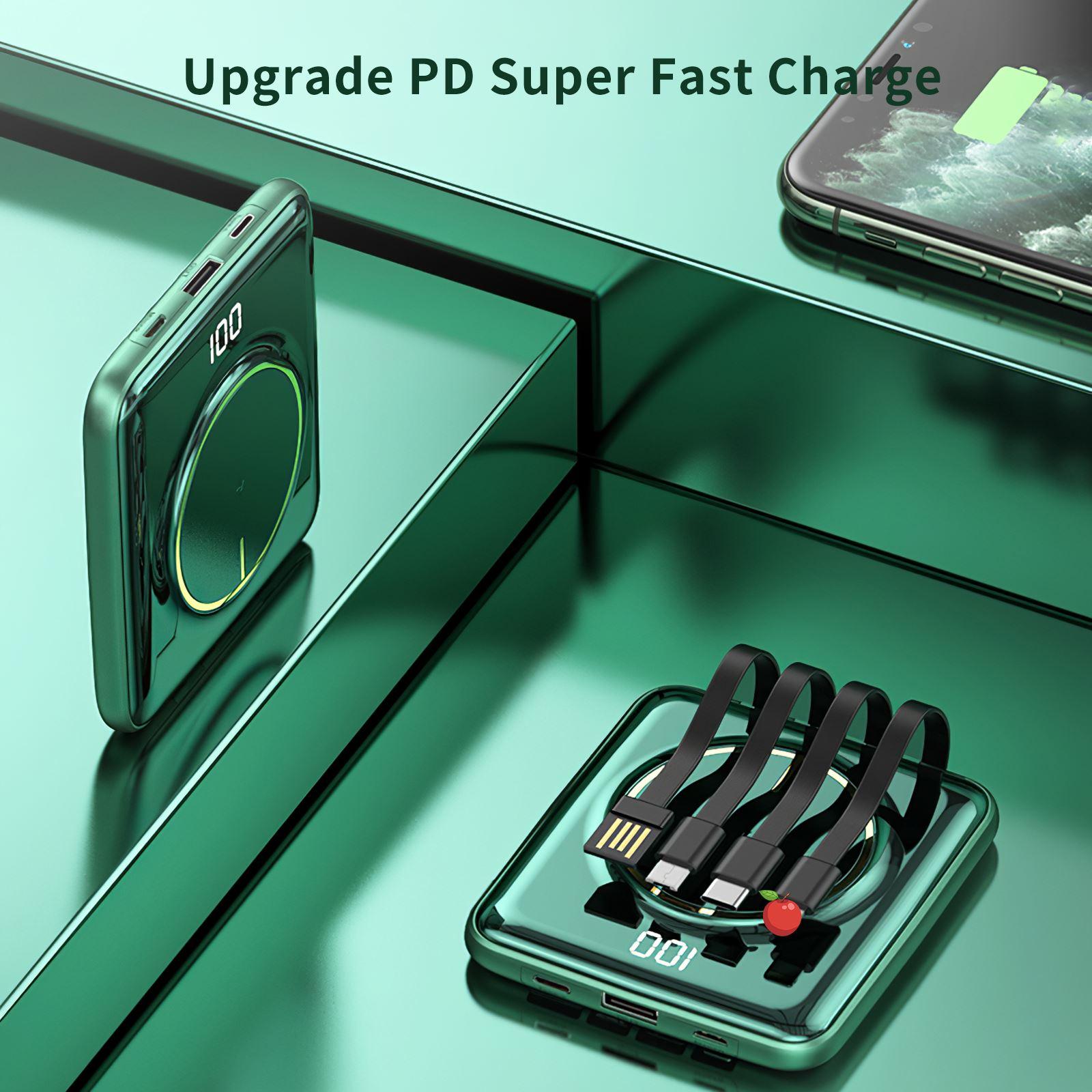 Cargador portátil 5 en 1, dispositivo de carga inalámbrica, Banco de energía...
