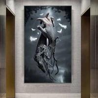 Toile dart abstraite avec empreinte de doigt torsade  affiche murale  images murales pour salon  decor de maison