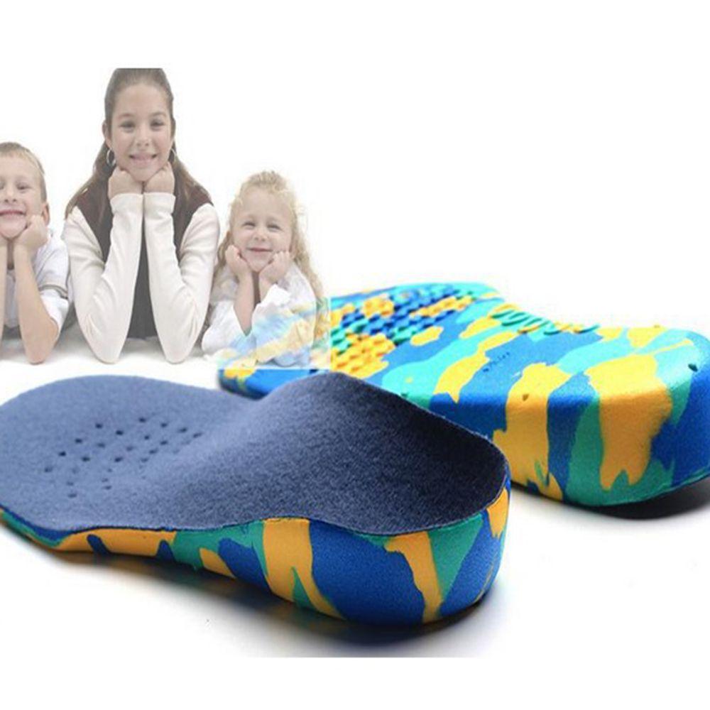 Nouveau enfants pieds plats voûte plantaire semelles orthopédiques orthèse chaussures Inserts S M L XL XXL Correction confort toute la saison antidérapant