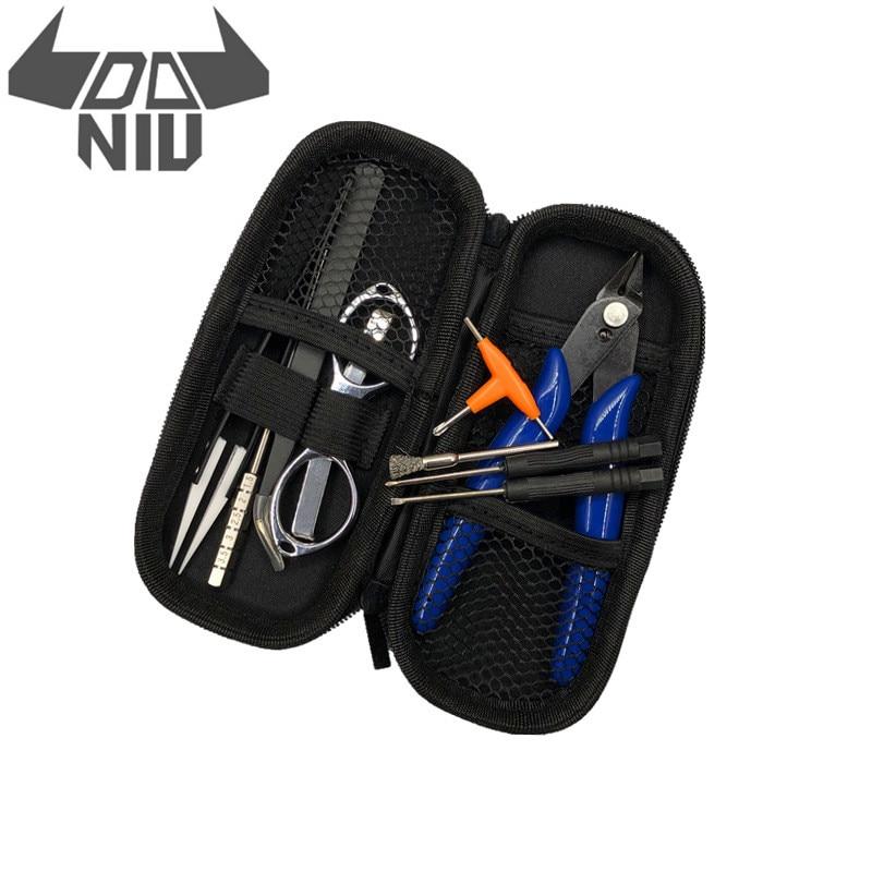 DANIU V3 Vape pinzas de cerámica alicates de alambre de calor bolsa de herramientas atomizador bobina Jig kit de herramienta portátil