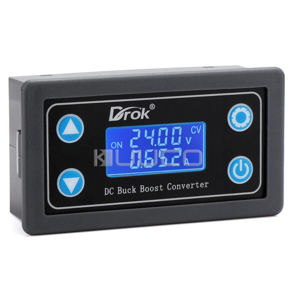 قابل للتعديل DC باك دفعة تحويل DC 5-30V إلى 0.5-30V وحدة CC CV LCD الطاقة امدادات التيار الكهربائي منظم ل لوحة طاقة شمسية شحن