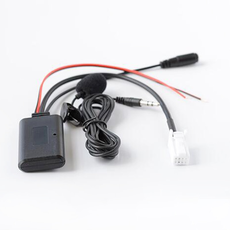 Biurlink Car Bluetooth Receiver Music Adapter AUX-IN Audio Cable Microphone Handsfree For Suzuki Vitara SX4 Grand 2007-10