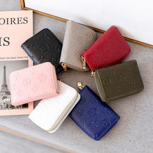 Women's Luxury Wallet Coin Purses Lovely Flowers Print Leather Zipper Mini Short Card Bag Wholesale