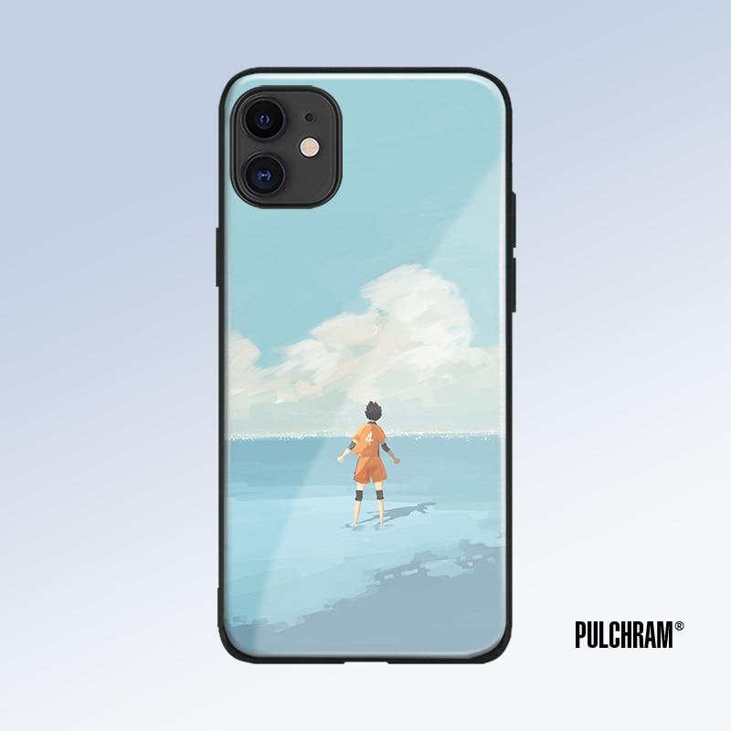 ¡-Yu tee! Funda de teléfono de silicona suave de vidrio templado anime para iPhone SE 6s 7 8 Plus X XR XS 11 Pro Max