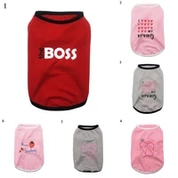 cute print dog cat vest spring summer pet clothes for small medium dogs pet puppy vest dog clothes for yorkies cat dog t shirt