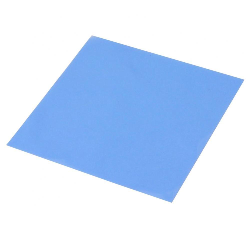1 Pcs Blue 100mm x 100mm x 0.5mm GPU CPU Heatsink Cooling Cooling Thermal Conductive Silicone Pad Thermal Pad