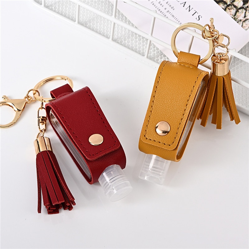 Hand Sanitizer Bottle Portable Travel Disinfect Gel Bottles Refillable Bottles with Keychain Holder