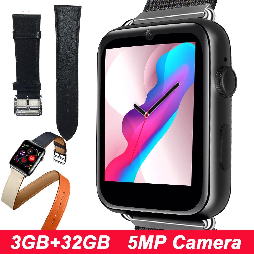 LEM10 4G LTE inteligentny zegarek Android 7.1 3G + 32G inteligentny zegarek mężczyźni 1.88 calowy ekran przednia kamera GPS WIFI inteligentny zegarek z funkcją pomiaru rytmu serca kobiet