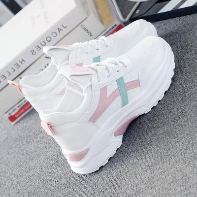 Women Sneakers 2020 Fashion Casual Shoes Woman Comfortable Breathable White Flats Female Platform Sneaker