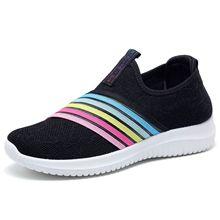 2020 nouvelles femmes baskets mode chaussettes chaussures décontracté rose baskets été tricoté vulcanisé chaussures femmes formateurs Tenis Feminino