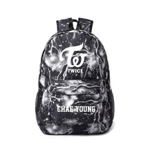 Kpop Hot Groups TWICE School Bag Cartoon Print Backpack Travel Bag Student Supplies Lightning Elemen