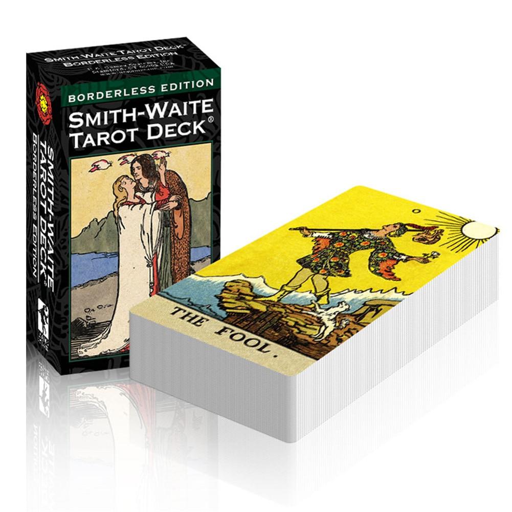 84 Sheets Borderless Smith Tarot Cards English Version Board Game Tarot Deck Cards Support Dropshipping