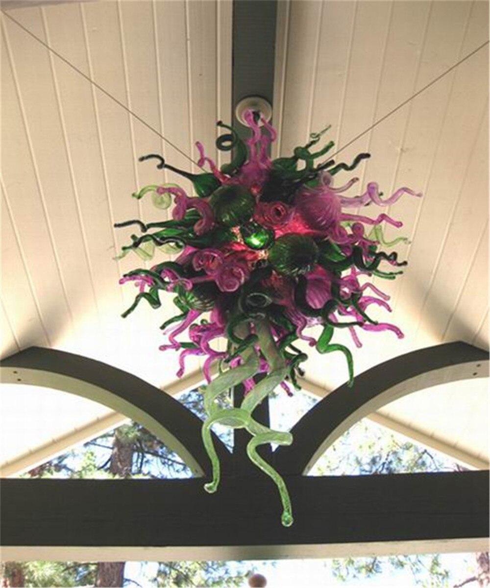 النمط التركي مورانو الفن الزجاج الثريا الكريستال الزفاف الديكور مصابيح المنزل مصممة بشكل جيد