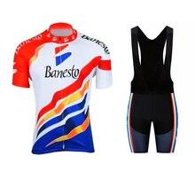 Banesto Cycling Jersey set 2020 Pro Team Hombre Summer Short Sleeve Jerseys Cycling Clothing Triathlon Bib Shorts Suit