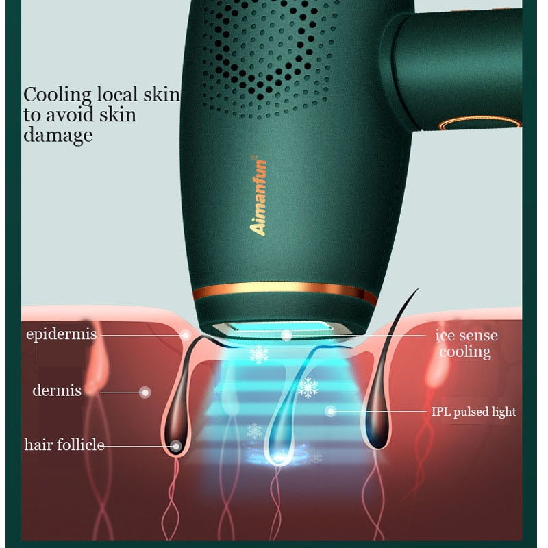 Depilator IPL Photoepilator Painless Laser Hair Removal At Home ICE Feeling Sliding Epilator 2021 Full Body Epilation CE ROHS enlarge