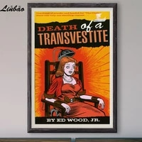 v432 1967 death of a transvestite vintage classic movie print silk poster home deco wall art gift