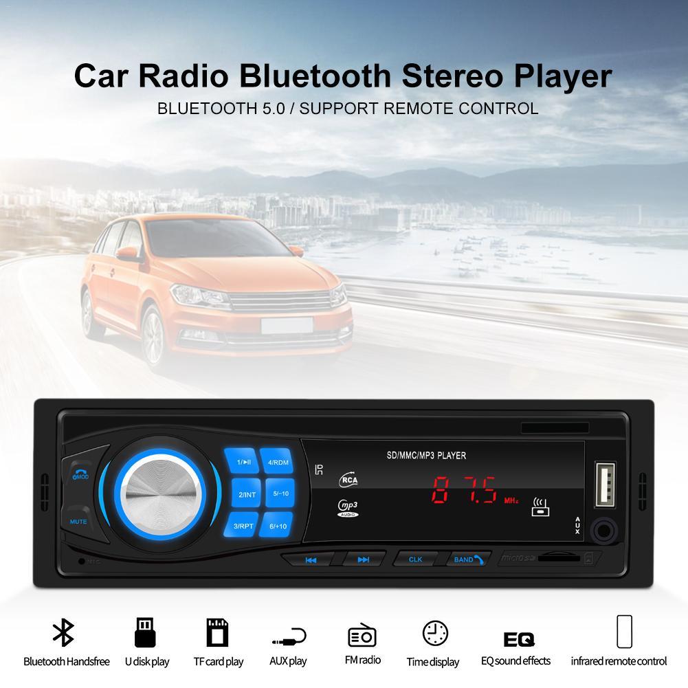 12 В 4 дюйма Автомобильный Радио стерео плеер FM Радио Bluetooth с пультом дистанционного управления SD USB AUX MP3 плеер
