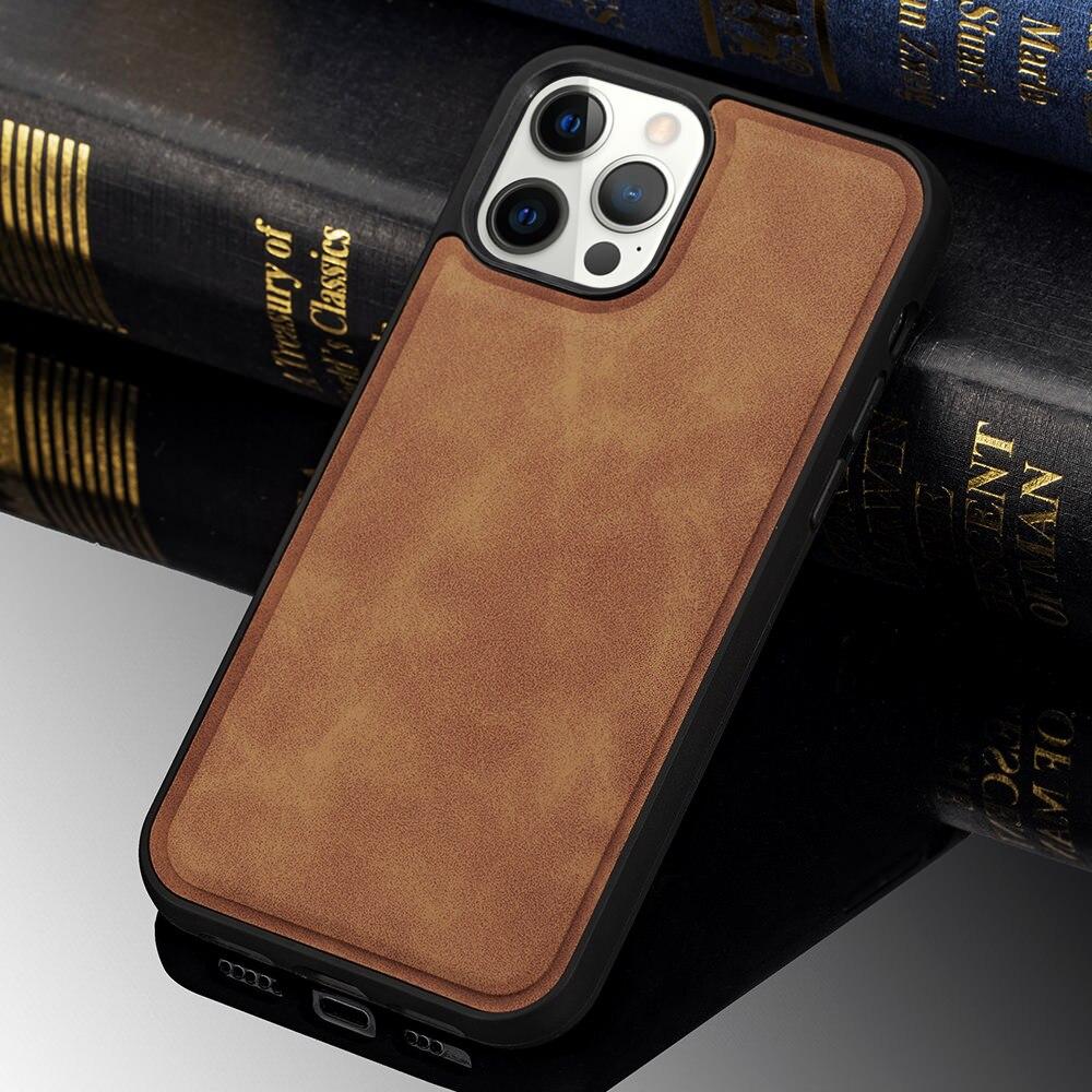 Магнитный кожаный чехол для Iphone 12 Pro Max с поддержкой беспроводной зарядки, противоударный тонкий противоударный чехол для Iphone 12 Mini