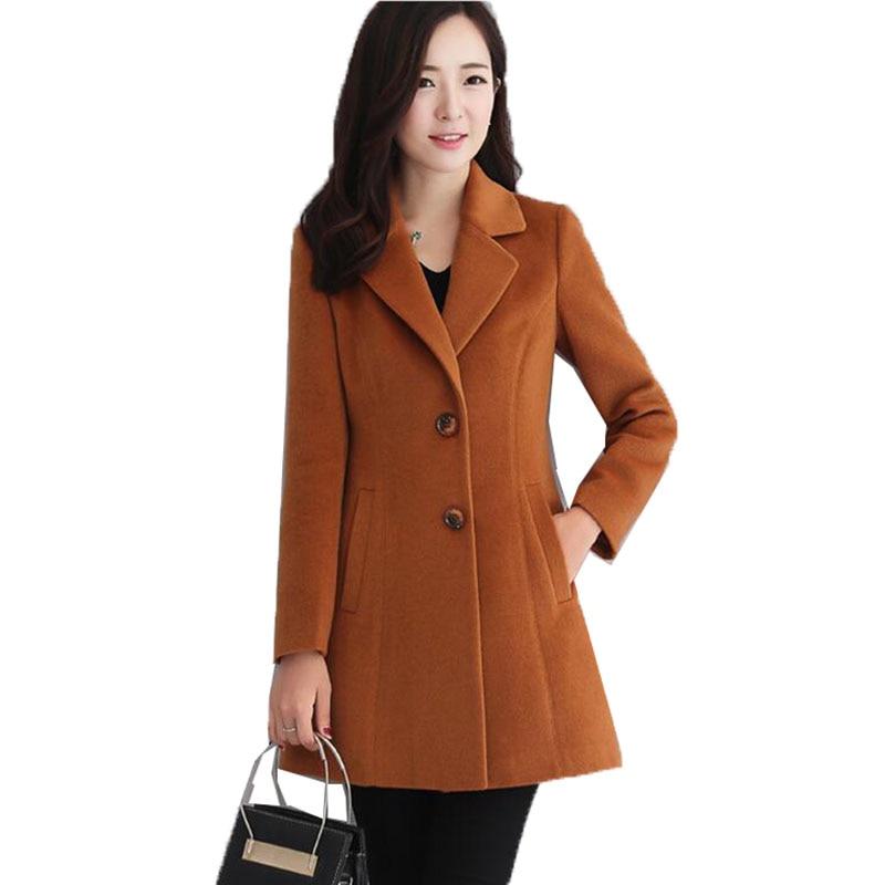 2020 casaco de inverno feminino moda misturada casaco de lã jaqueta feminina coreano cor sólida longo trench coat roupas femininas abrigo mujer
