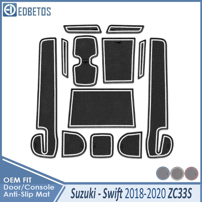 Car Gadget Pad For Suzuki Swift 4 2018 2019 2020 ZC33S Accessories Gel Pad Rubber Gate Slot Mat Cup Mats Tapis Voiture