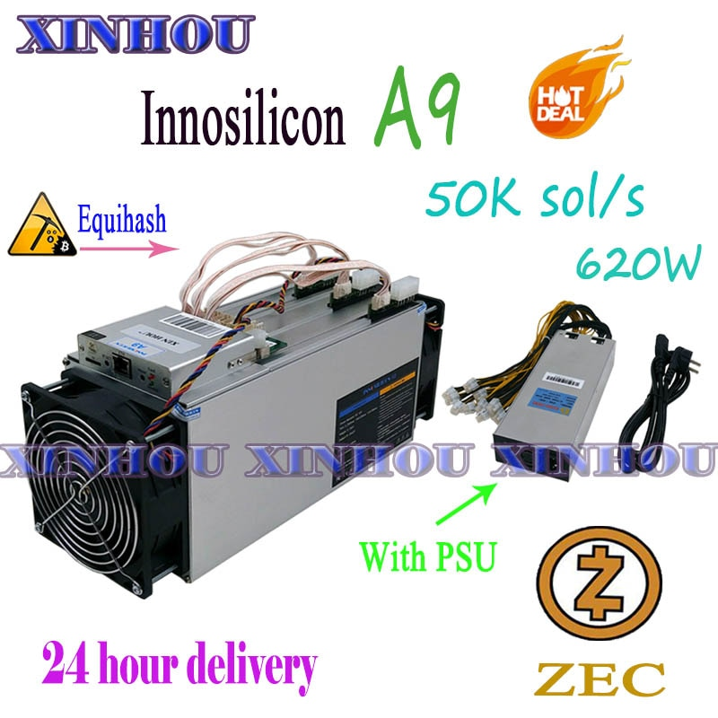 Se Innosilicon A9 ZMaster 50k Equihash Asic minero Zcash ZCL ZEC BTG minería mejor que Antminer Z9 Z11 Z9mini S9 M20S M21S T2T