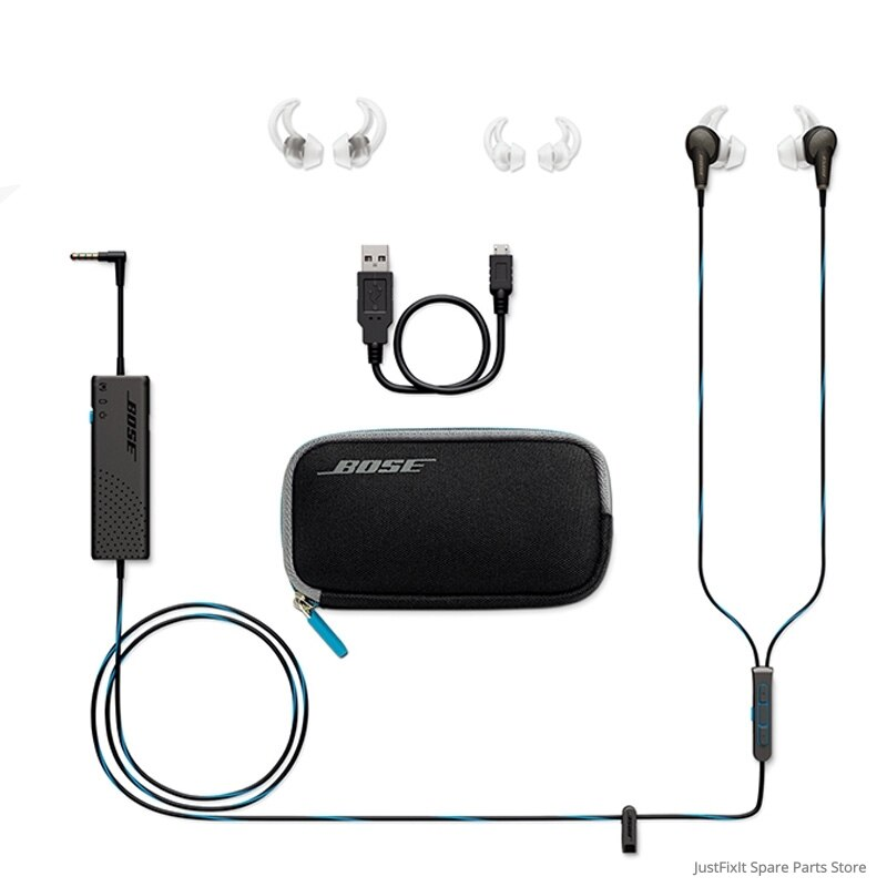 سماعات أذن Bose QuietComfort QC20 داخل الأذن مزودة بخاصية إلغاء الضوضاء