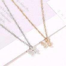 12 części/partia złoto srebro kolorowe motyle naszyjnik dla kobiet owady urok wisiorki biżuteria Choker naszyjniki akcesoria hurtownia