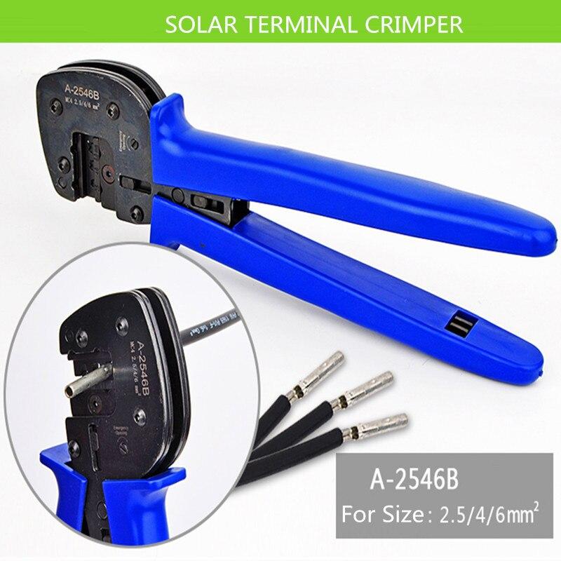 Обжимной инструмент для панели солнечных батарей, обжимной инструмент для панели солнечных батарей 2,5-6 мм2