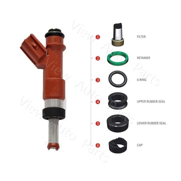 20 set Fuel injector repair kit for Toyota Highlander Camry 3.5L FJ763 including Filter Removal Tool VD-RK-0219
