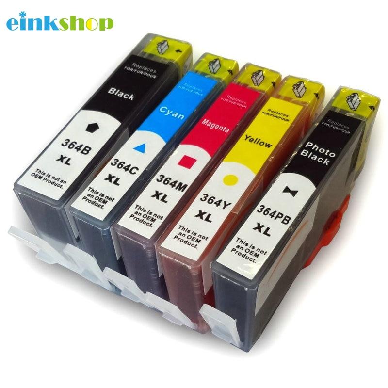 Einkshop dla hp 364 364xl kompatybilny wkład z atramentem DeskJet 3070A Officejet 3520 4610 4620 4622 Photosmart 5510 5520 6510