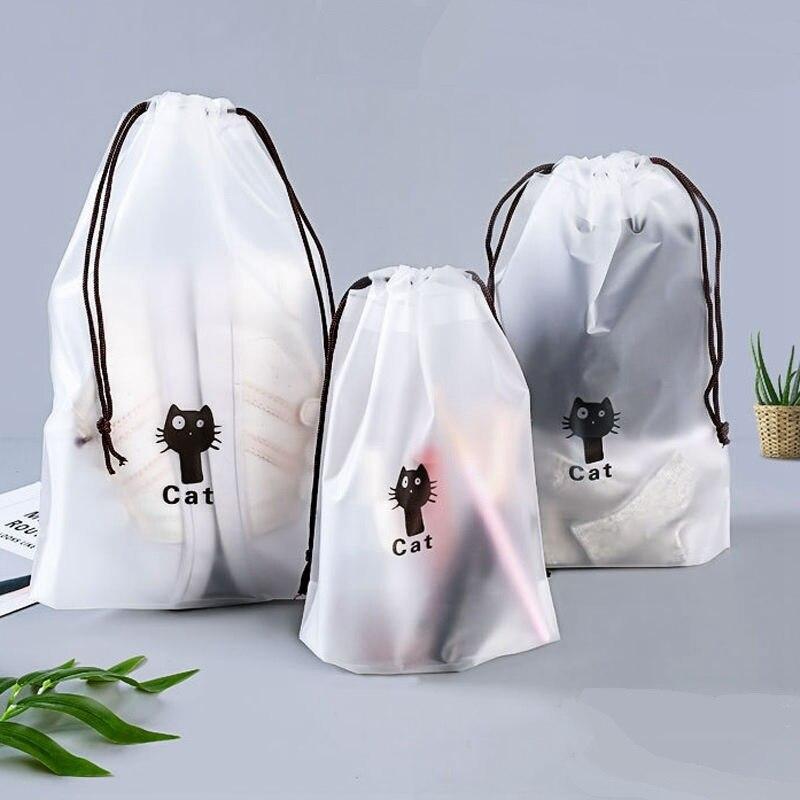 Прозрачная косметичка для путешествий, водонепроницаемая Женская портативная косметичка для мытья ванны, мультяшная сумка для хранения гигиенических салфеток