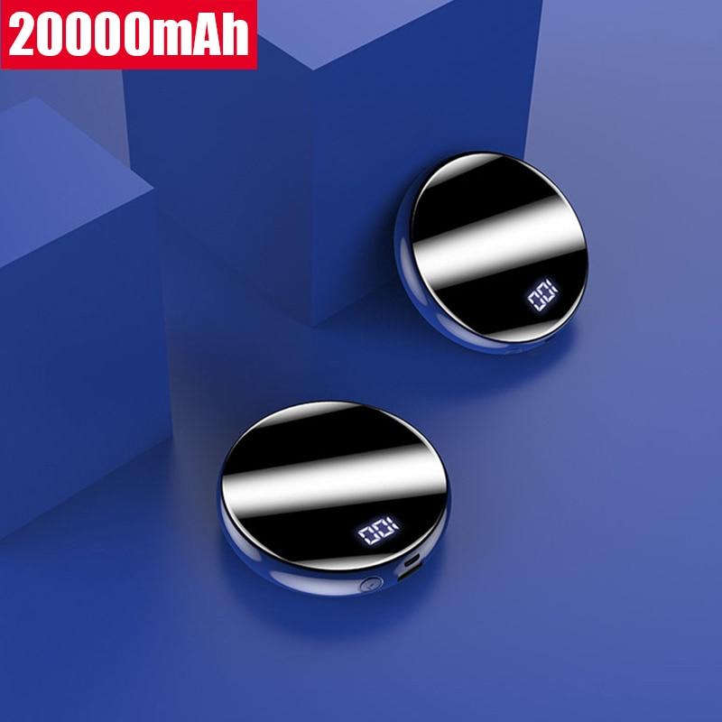 Mini banco de potência 20000 mah portátil carga rápida poverbank carregador de bateria externa powerbank 20000 mah para xiaomi mi pover banco