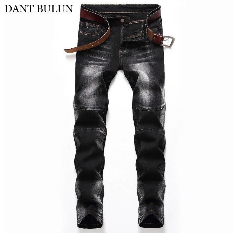 Мужские джинсы в стиле ретро, стрейчевые джинсовые брюки, облегающие мужские прямые уличные джинсы, Hombre, классическая мужская брендовая оде...