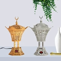 arab metal aroma stove luxury electric incense burner golden room fragrance aroma diffser aroma incense holder eid ul fitr gifts