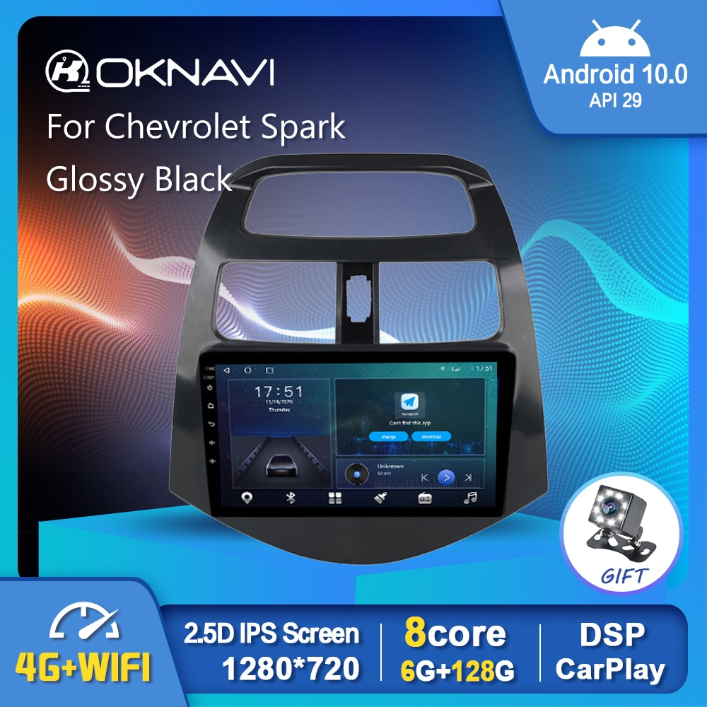 Фото - Android 10.0 Car Radio Player For Chevrolet Spark 2011-2014 Navigation GPS WIFI Carplay Stereo Auto 6G 128G 1280*720P No DVD 6g 128g android 10 0 smart car radio video player for nissan nv200 2011 2016 4g auto bt multimedia gps stereo dsp carplay no dvd