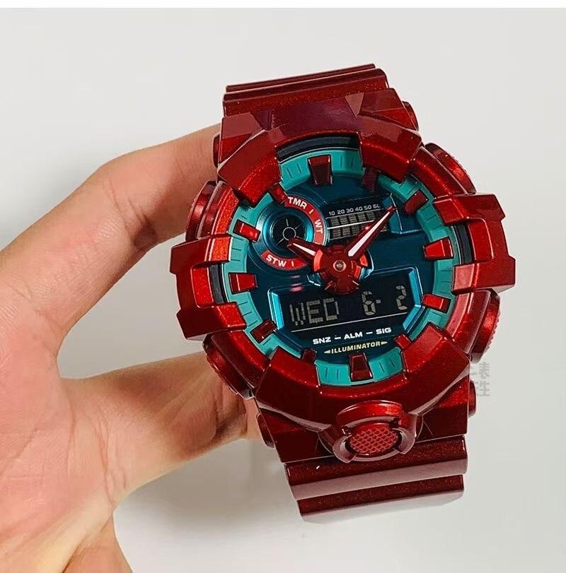 2021 نموذج جديد صدمة 700 ساعة LED الرقمية متعددة الوظائف الرياضة مقاوم للماء سيليكون حزام عادية كوارتز ساعة اليد للجنسين
