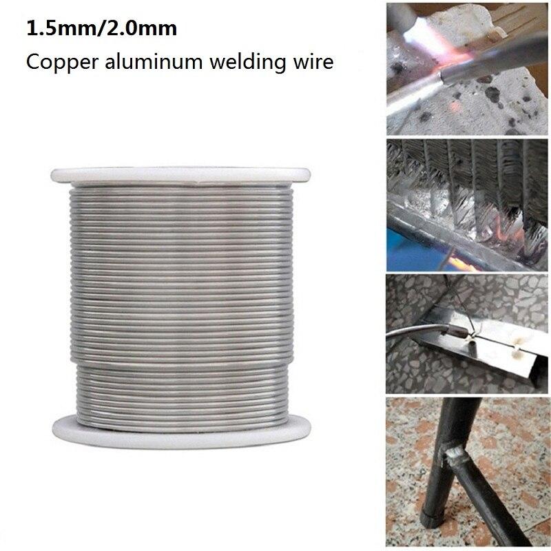 1000/2000/3000/5000mm con alambre de soldadura con núcleo de flujo, alambres de soldadura de brazo de aluminio, cable de soldadura de baja temperatura, 1,5/2mm