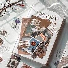 Journamm 45 pièces Ins Style voyage esthétique mignon autocollant créatif main compte LOMO cartes papeterie bloc-notes poster It autocollants