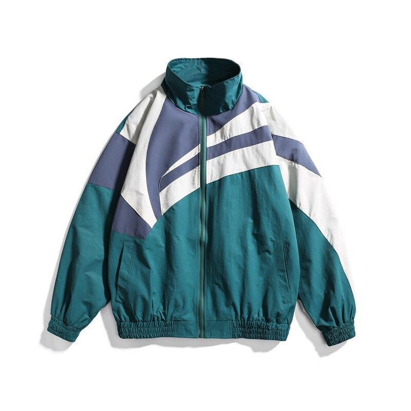 Демисезонная бейсбольная куртка в уличном стиле, мужская куртка-бомбер в стиле пэчворк для колледжа, мужская модель большого размера