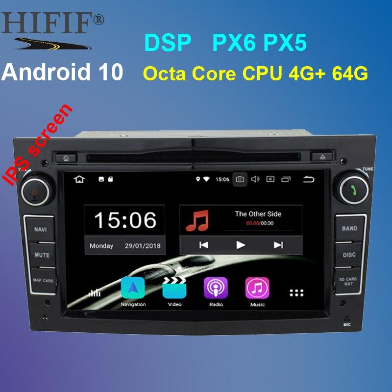 PX6-lecteur DVD de voiture Android 10   IPS DSP Octa Core 2din pour Opel Corsa Vectra C D Meriva Vivaro Tigra Signum GPS Navi RDS BT